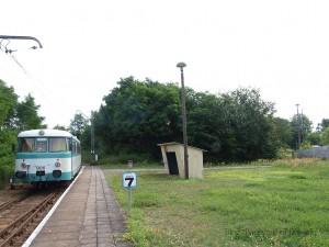 ミュンヘベルクに停車中の列車 / Train at Müncheberg station.