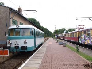ブッコーに到着したレールバス / A MAN VT arrived at Buckow.