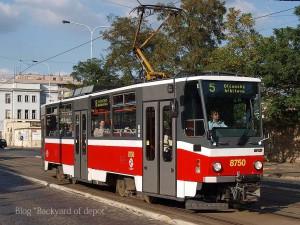 5系統で走るタトラT6A5。Tusarovaにて / Tatra T6A5 at Tusarova