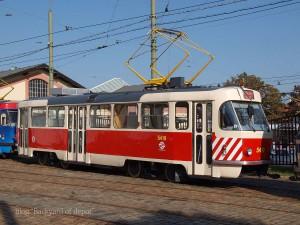事業用車となっているタトラT3。都市交通博物館にて / A Tatra T3 at Public transport museum.