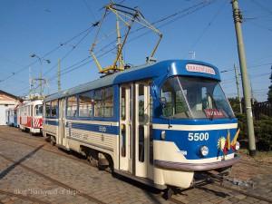 プラハ市電唯一のタトラT4。都市交通博物館にて / A Tatra T4 at Public transport museum.