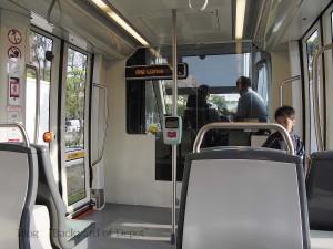 LRTの車内 / Interior of LRT