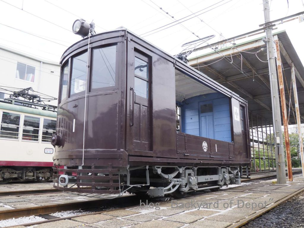 貨1形 / No.1 of freight tram for track-maintenance or advertising use.